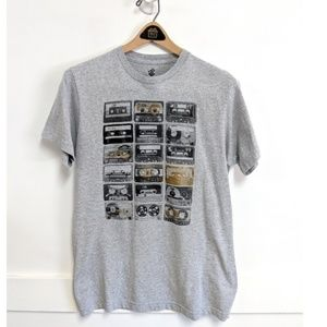 Rocawear Graphic Retro Tee with Cassette Tapes Med